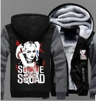 USA size Suicide Squad Harley Quinn Joker Cosplay Coat Hoodi...
