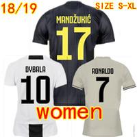 0c3d9deffa00 Женщины Футбольные рубашки RONALDO Pjanic JUVENTUS Дома в гостях 3-е  футбольные Jerseys 2018 2019