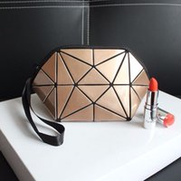 Geometric cosmetic bag for women toiletry bags fashional mak...