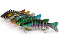 Lebensechte Fische Schwimmen 7 Segmente Künstliche Angelköder 10 cm 15,8g Wobbler Tauchen Realistische Laser Musky Angeln Köder Haken