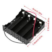 3.7V الموازي 3X 4x 18650 بطاريات حامل صندوق تخزين حالة الحاويات بالأسلاك