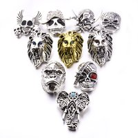 Mixed Styles Noosa Chunks snaps jewelry lion' s head 18m...