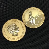 Non magnetico Il distintivo Kangroo 2009 australiano 24 K placcato oro reale 1 OZ 32.6 mm Elisabetta da collezione arte ricordo Art.5 Pz / lotto