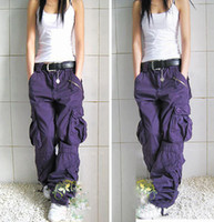 Gratis verzending Nieuwe Collectie Plus Size 5 Colors Cargo Pants Lovers Fashion Hip Hop Losse Jeans Baggy Pants for Women