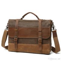 Ruil Retro Leder nähte Canvas Messenger Bags Multifunktions Männer Schulter  Aktentasche Reise Handtasche Vintage Paket Fünf af81233529fec