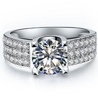 2ct превосходное участие ювелирные изделия Марка кольцо для женщин стерлингового серебра кольцо свадьба Сона синтетические бриллианты кольцо для Леди