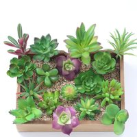 16 Designs Artificial Succulents Wedding Decoration Centerpi...