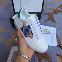 Korean children' s lace- up sneakers boys white embroider...