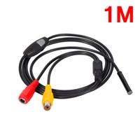 Freeshipping Mini 5V AV nivel impermeable IP66 endoscopio 5.5mm Dia Inspección 1m / 5m / 10m / 15m / 20m Longitud Cable blando Cámara Boroscopio impermeable