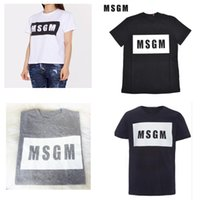 4 color High Quality 2018 Men Women MSGM T Shirt Summer Coup...