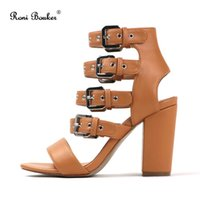 Woman Brand Fashion High Heels Ladies Summer Buckle Strap Ca...