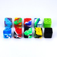 Square shape silicone jars dab wax vaporizer oil rubber container 11ml food grade silicon dry herb dabber tool rubber bho box vape
