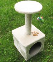 Nueva 60 * 30 * 30 cm Cat Tree Tower Condo Scratcher Muebles Gatito Mascota Casa Hamaca BED