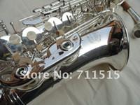 Kopya Jupiter JAS-567GL Alto Saksafon E-Düz Dinle Müzik Aletleri Yüzey Gümüş Kaplama Kılıf Ile Profesyonel Sax Ağızlık