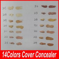 14 colori Der Make up Cover 30g Primer Concealer Base Professional Viso Makeup Foundation Contour Palette Base di trucco DHL libero