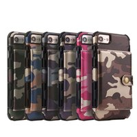 Camouflage pu Leather Cellphone Case For iPhone 7 8 Plus Car...