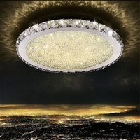 Modern K9 Crystal LED Flush Mount stainless steel chandelier...