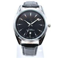 В продаже новый стиль 40 мм круглый кожаный кварц модные мужские часы авто дата мужчины платье дизайнерские часы оптом мужские подарки наручные часы relogios