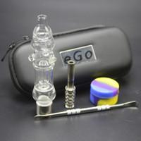 Nuovo Kit NC 510 Discussione Pipes Mini Water Glass Bong con il titanio Nail Silicon Jar Cera astuccio con cerniera EGO Dabber