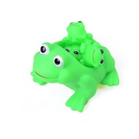 4Pcs Set Hot Sale Children playing water Frog Toy Set Mother...