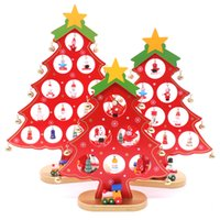 DIY Wooden Christmas Tree Pendant Ornament For Xmas Festival...