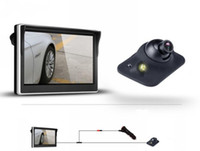 Schermo da 5 pollici + Auto Vista posteriore Sistema telecamera LED Night Vision Parcheggio Assistente Assistente Prevenzione della collisione