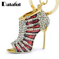 Charm High heel Shoes Keyrings Keychains Crystal Trendy Purs...