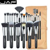JAF 24pcs 전문 메이크업 브러쉬 세트 고품질 기능성 스튜디오 합성 메이크업 도구 키트 J2404YC-B
