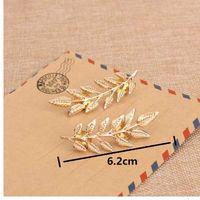 Z08 Nueva Llegada Venta Caliente Exquisito Hojas Broches Para Las Mujeres 1 Par 2 Colores Joyería de Moda Excelente Disfraces Accesorios