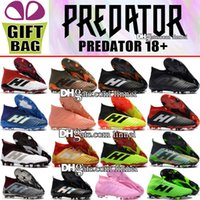 New Arrivals High Ankle Football Boots Predator 18 FG Leathe...