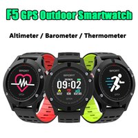 F5 Sports GPS Smart Watch IP67 Bracciale impermeabile Monitor della frequenza cardiaca Bluetooth Smart Pedometro banda Orologio da polso OLED Display a colori touch