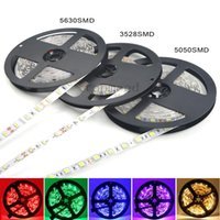 Super Brillante 5m 5630 5050 3528 SMD 60led / m LED Strip Light Impermeable Flexiable 300LED Cool / Pure / Warm Blanco / Rojo / Azul / Verde 12V