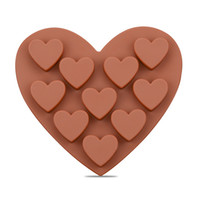 Heart Shape Chocolate Molds DIY Silicone Cake Decoration Jel...