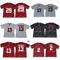 Männer Alabama Crimson Tide # 13 Tua Tagovailoa 2018 NCAA Qualität 2 Jalen Hurts 3 Ridley 29 Fitzpatrick 9 Bo Scarbrough College-Trikots