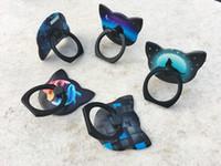 Nuovi modelli creativi supporto luminoso telefono cellulare pigro gatto testa anello fibbia supporto auto OPP imballaggio sacchetto spedizione DHL