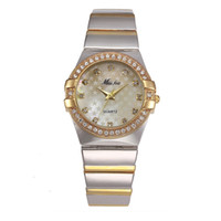Gold Watch Fashion Brand Rhinestone Relogio Feminino Dourado...