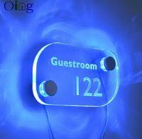 2pcs / set aluminium standoff coloré led signe de lumière côté pince fixation de support pour plaque acrylique affichage led titulaire de signalisation