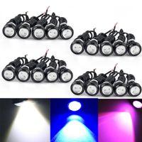 9w LED 이글 아이 18mm 범퍼 DRL 안개 라이트 오토바이 라이트 낮 실행 DRL 꼬리 백업 라이트