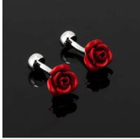 più nuovo lusso moda rosso rosa gemello per uomo di alta qualità vintage antico Francia camicia gemelli per gli uomini gioielli