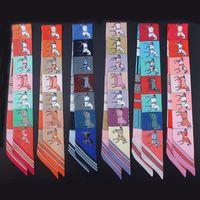 Accessori moda alla moda fazzoletto da collo Stile scialle di alta qualità Sciarpa di seta Sciarpe firmate Sciarpa sottile estiva 5 * 88 cm
