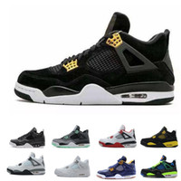Discount basktball shoes 4s for men 4 pure money royalty whi...