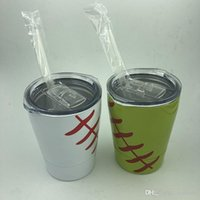 9oz Tumblers Baseball Wine Cup Stainless Steel Mug Cups Trav...