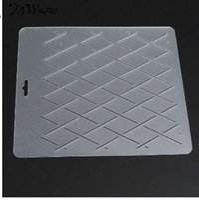 KiWarm DIY Semi transparent Rhombus Form Schablone Kunststoff Quilt Vorlage Quilt Werkzeug für Patchwork Malerei Sewing Craft Werkzeuge