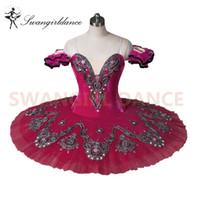 Dostosowana róża Czerwony Klasyczny balet Tutu Professional Ballerina Dance Costumbt8992D