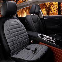Seggiolino auto elettrico riscaldato Cuscino invernale Seggiolino auto imbottito Copri sedili riscaldati Forniture universali congiunte nero grigio