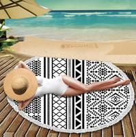 جولة ماندالا الشاطئ 44 أنماط المناشف المطبوعة نسيج الهبي بوهو سماط البوهيمي الشاطئ منشفة المائدة يغطي الشاطئ شال لفاف اليوغا a808