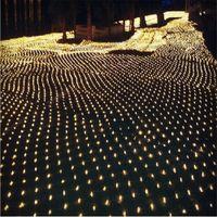 10 M * 8 M LEVOU luz net net luz Pátio parque paisagem luzes luzes da cortina À Prova D 'Água LEVOU luzes série 110 V-220 V