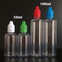 다채로운 바늘 병 50 ml 100 ml 애완 동물 플라스틱 Dropper 병 탬 퍼 분명 어린이 증거 캡 팁 E 증기 Cig 액체에 대 한