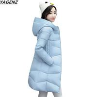 Женщины зимняя куртка пальто 2017 новая мода с капюшоном теплый хлопок-ватник плюс размер вниз парки женские базовые пальто YAGENZ K657