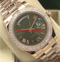 Lüks İzle 5 Stil 18K Rose Gold Diamond Bezel 41mm Roman Otomatik Moda Erkekler İzle Kol Dial